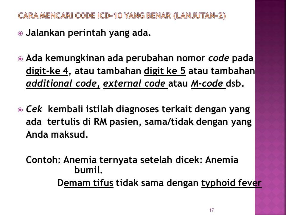 CARA MENCARI CODE ICD-10 yang BENAR (Lanjutan-2)