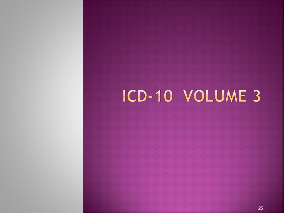 ICD-10 VOLUME 3
