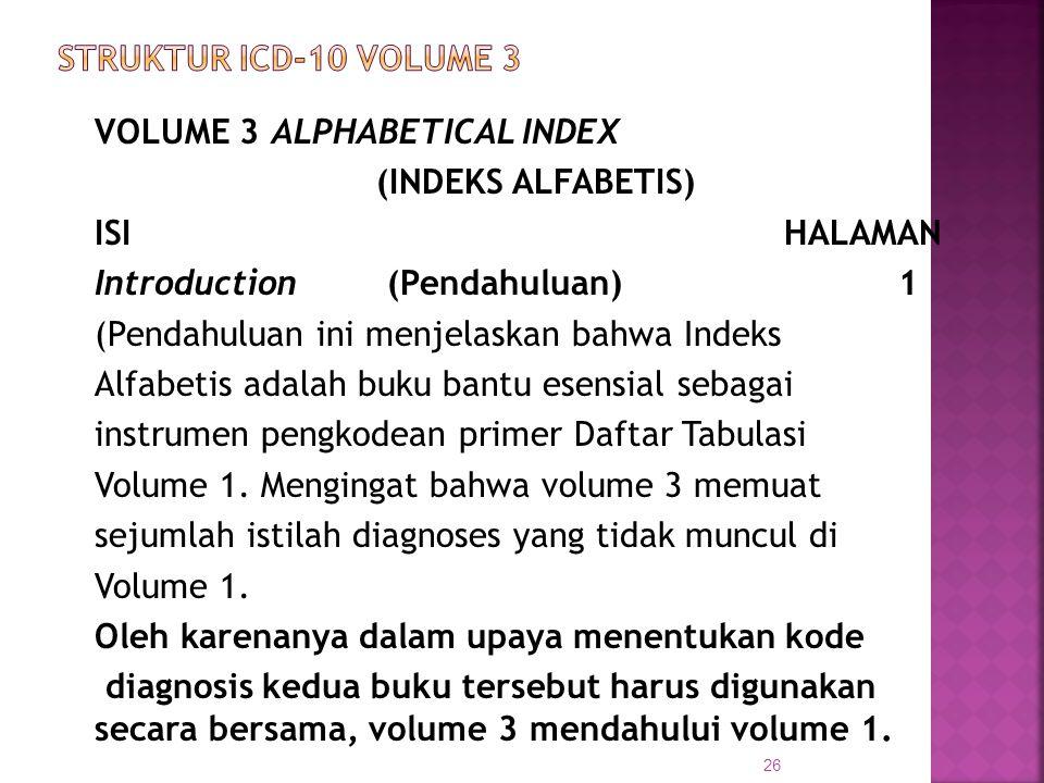 STRUKTUR ICD-10 VOLUME 3