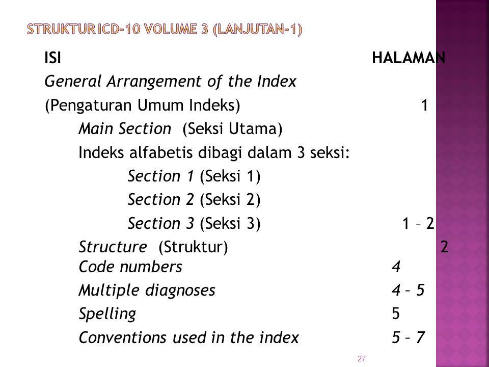 STRUKTUR ICD-10 VOLUME 3 (Lanjutan-1)