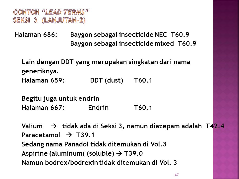 CONTOH LEAD TERMS SEKSI 3 (Lanjutan-2)