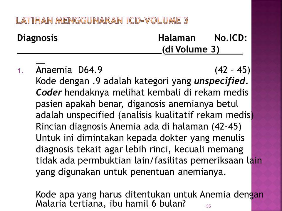 LATIHAN MENGGUNAKAN ICD-VOLUME 3