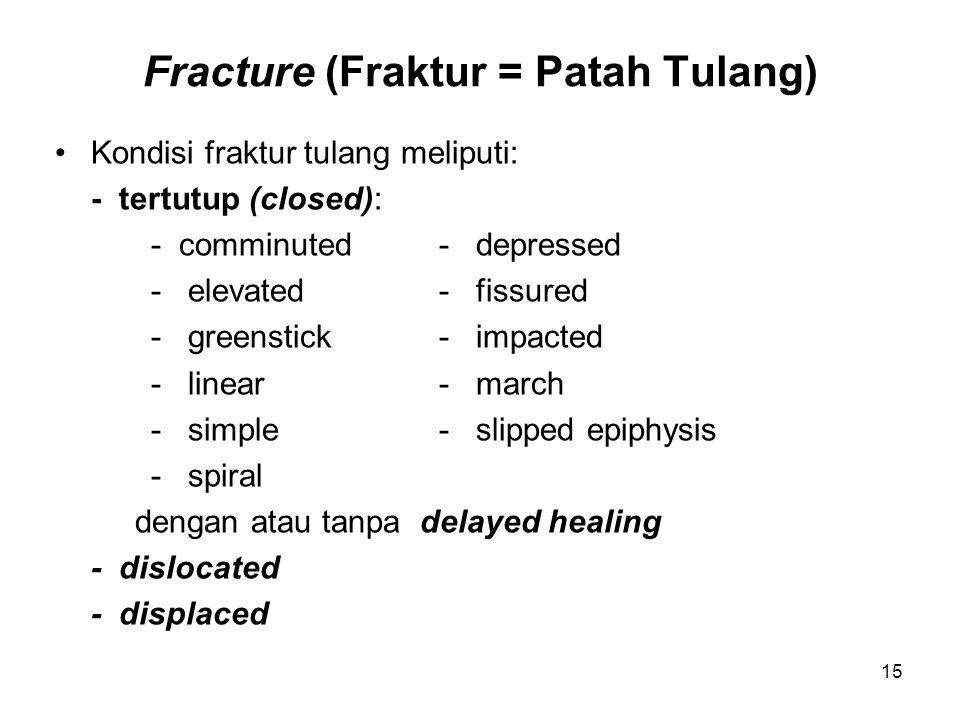 Fracture (Fraktur = Patah Tulang)