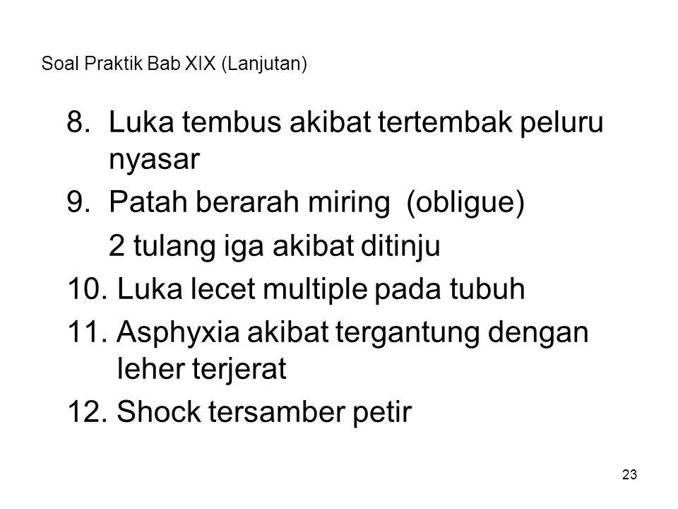 Soal Praktik Bab XIX (Lanjutan)