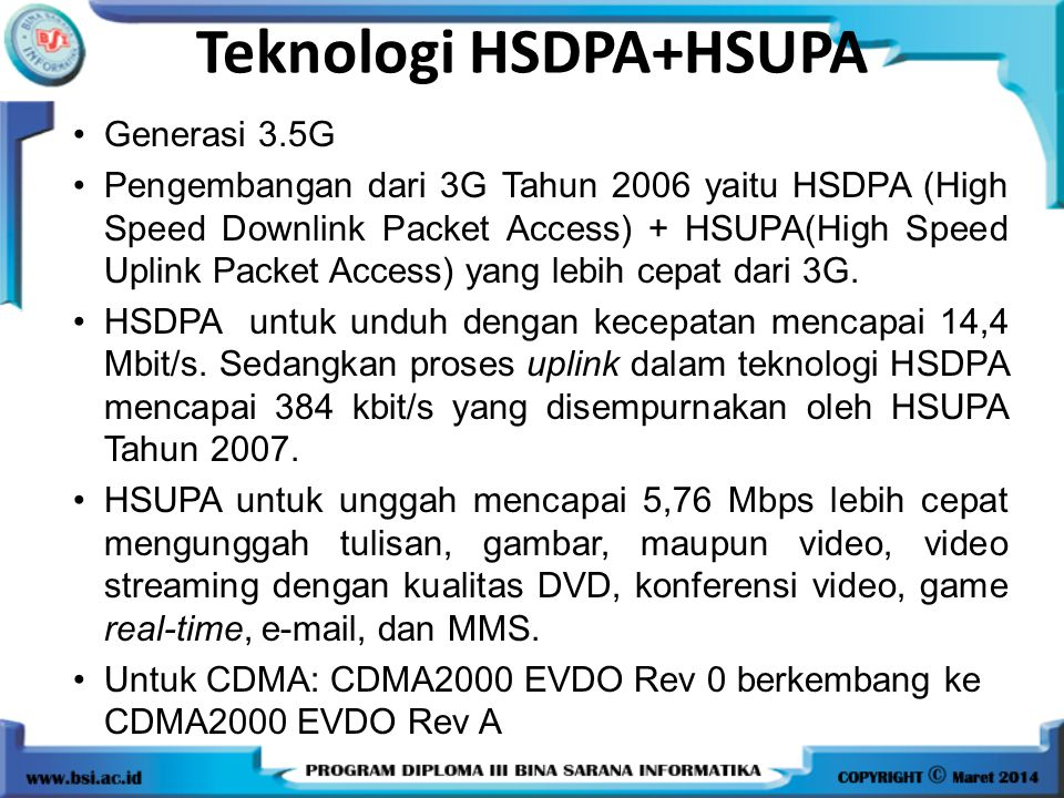 Teknologi HSDPA+HSUPA