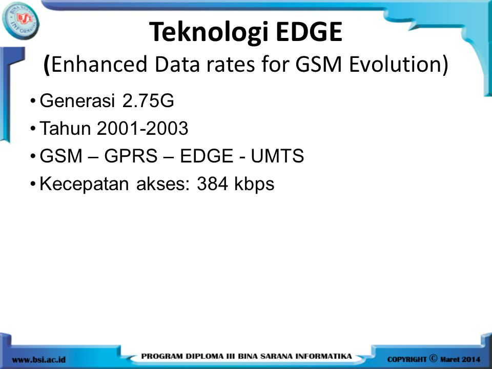 Teknologi EDGE (Enhanced Data rates for GSM Evolution)