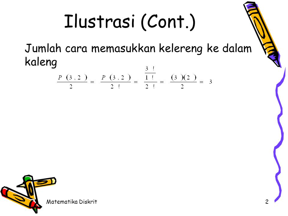 Definisi Kombinasi r elemen dari n elemen adalah :