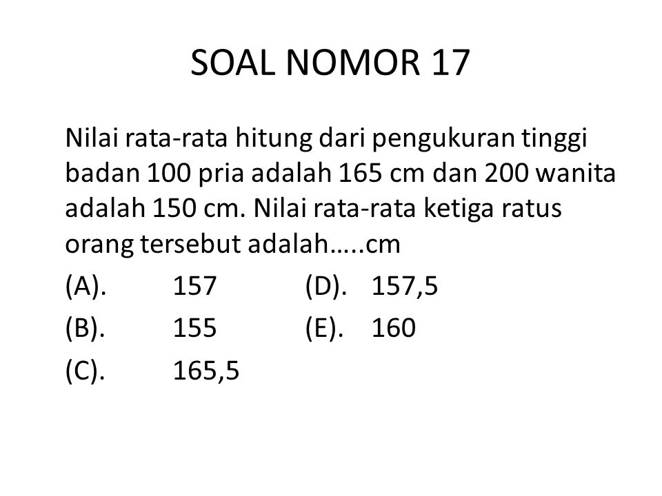 SOAL NOMOR 17