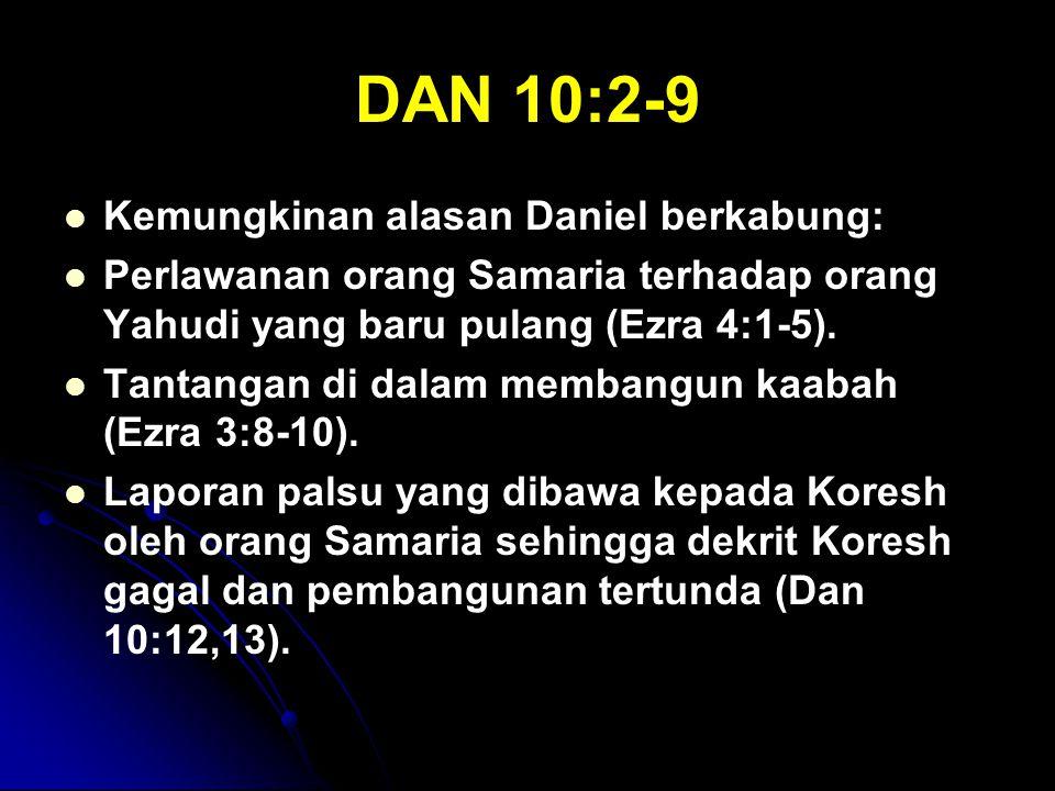 DAN 10:2-9 Kemungkinan alasan Daniel berkabung: