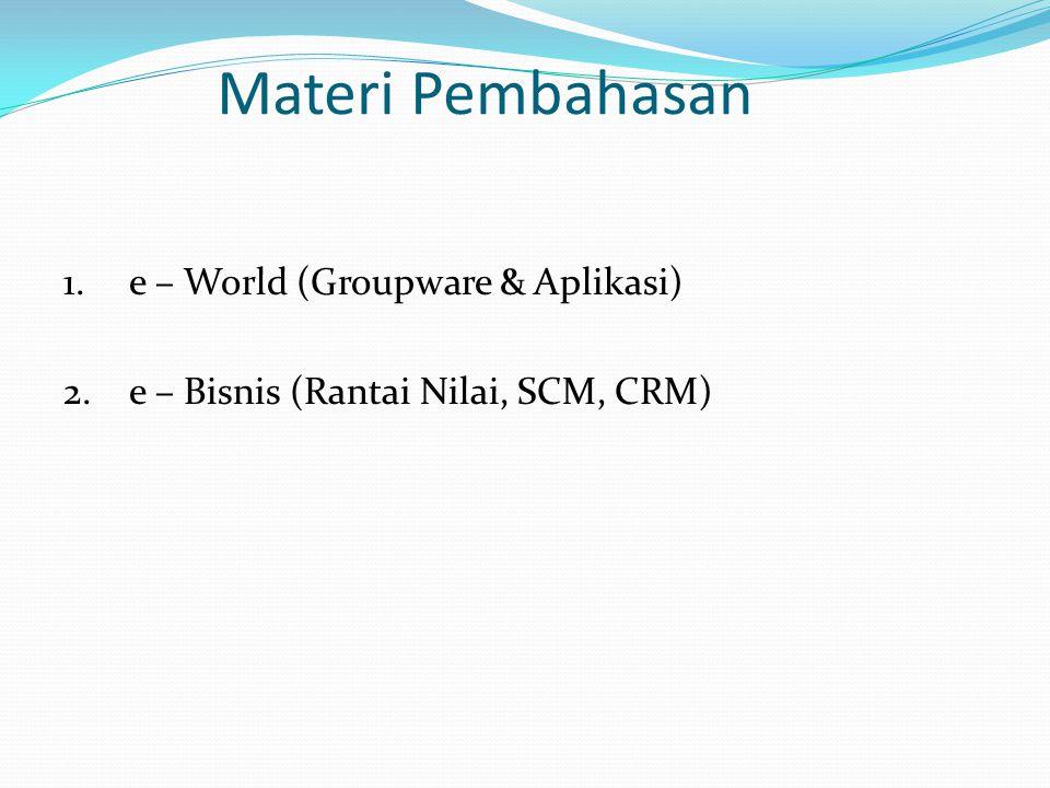 Materi Pembahasan e – World (Groupware & Aplikasi)