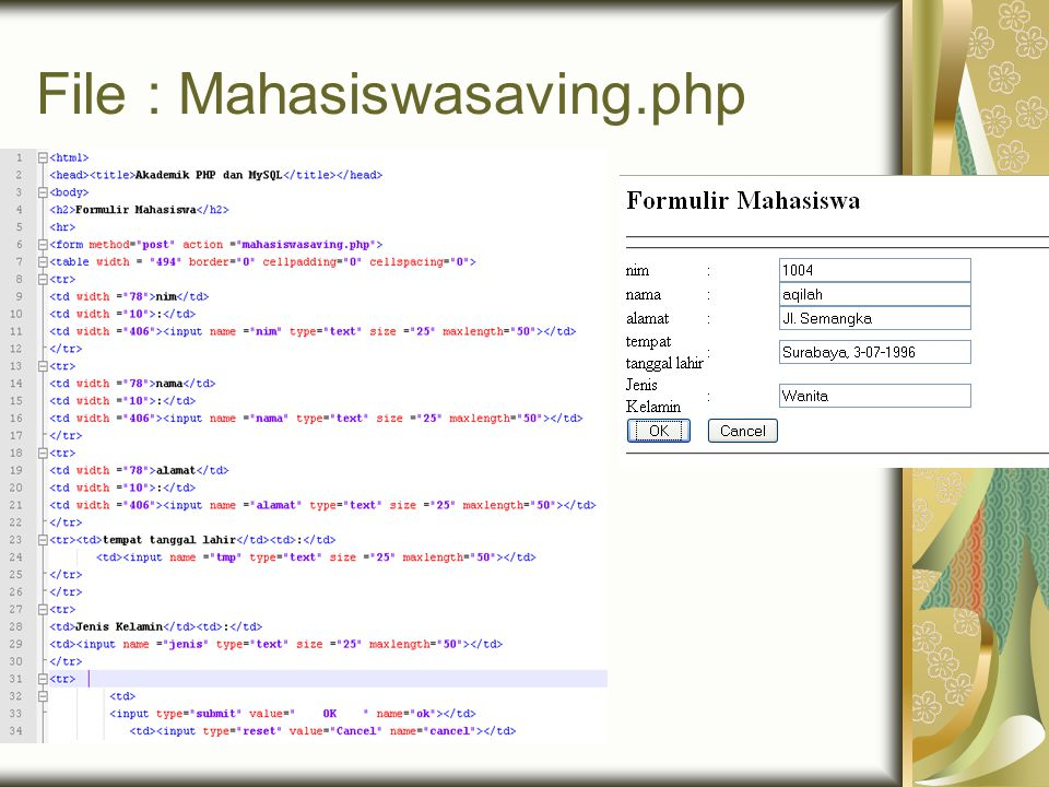 File : Mahasiswasaving.php