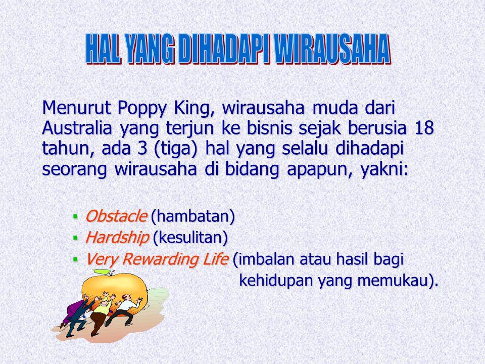 HAL YANG DIHADAPI WIRAUSAHA