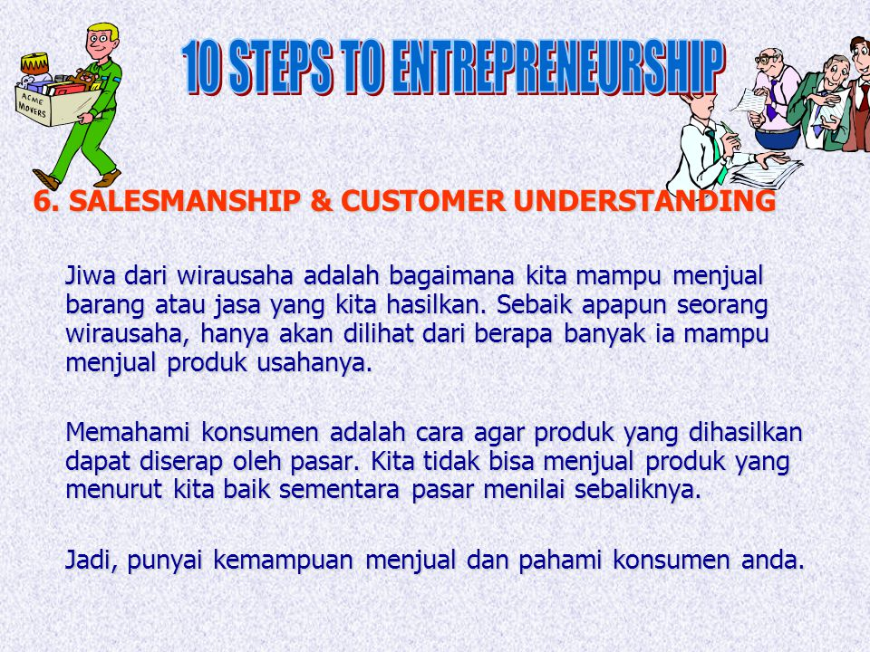 10 STEPS TO ENTREPRENEURSHIP