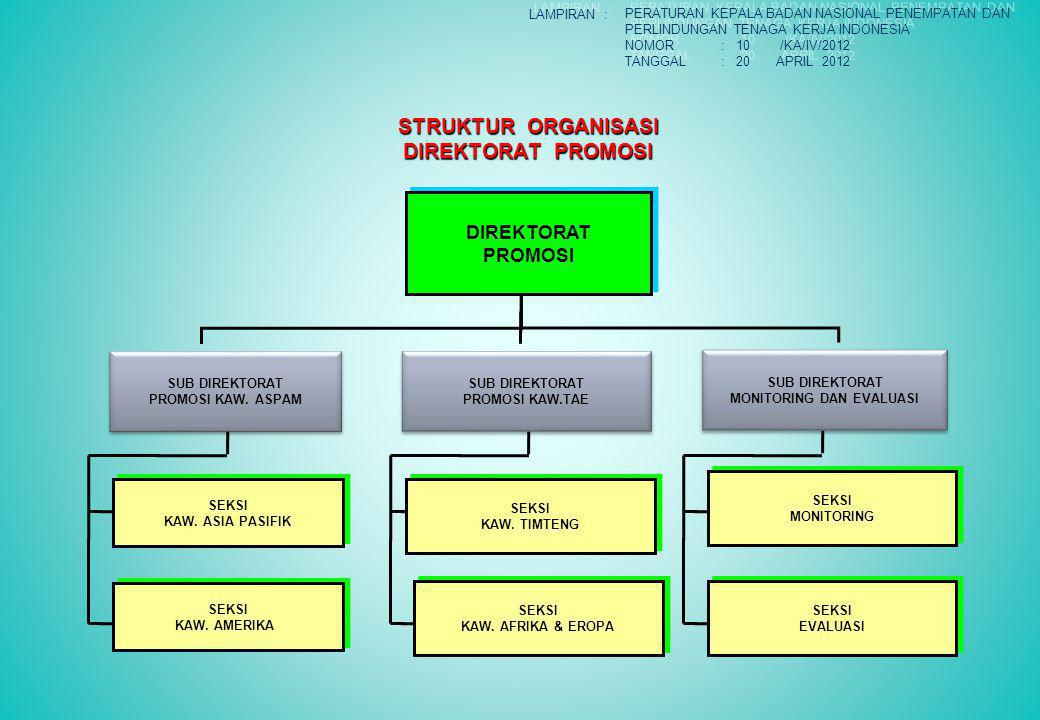 STRUKTUR ORGANISASI DIREKTORAT PROMOSI