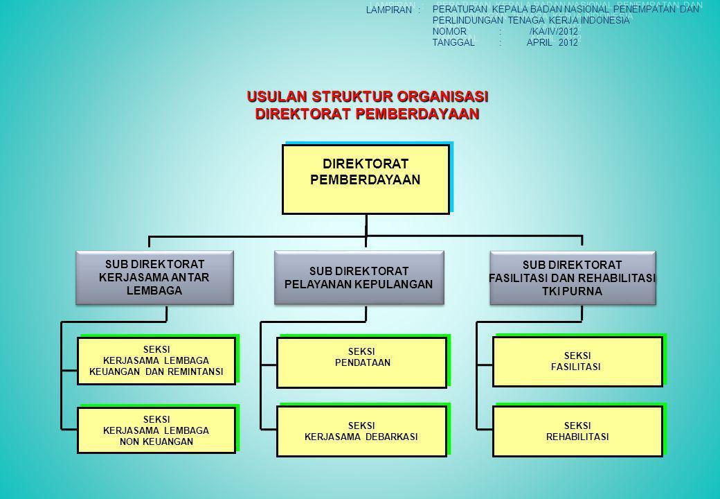 USULAN STRUKTUR ORGANISASI DIREKTORAT PEMBERDAYAAN