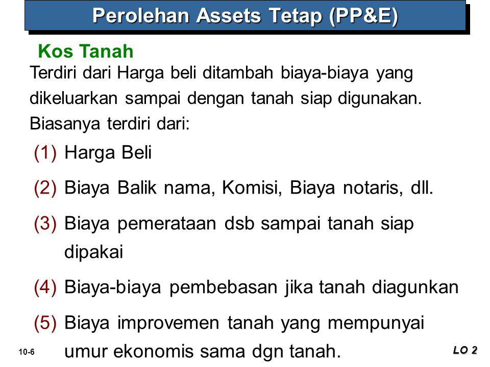 Perolehan Assets Tetap (PP&E)