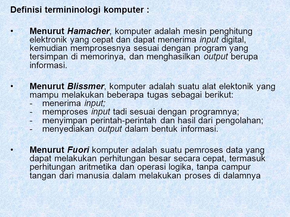 Definisi termininologi komputer :