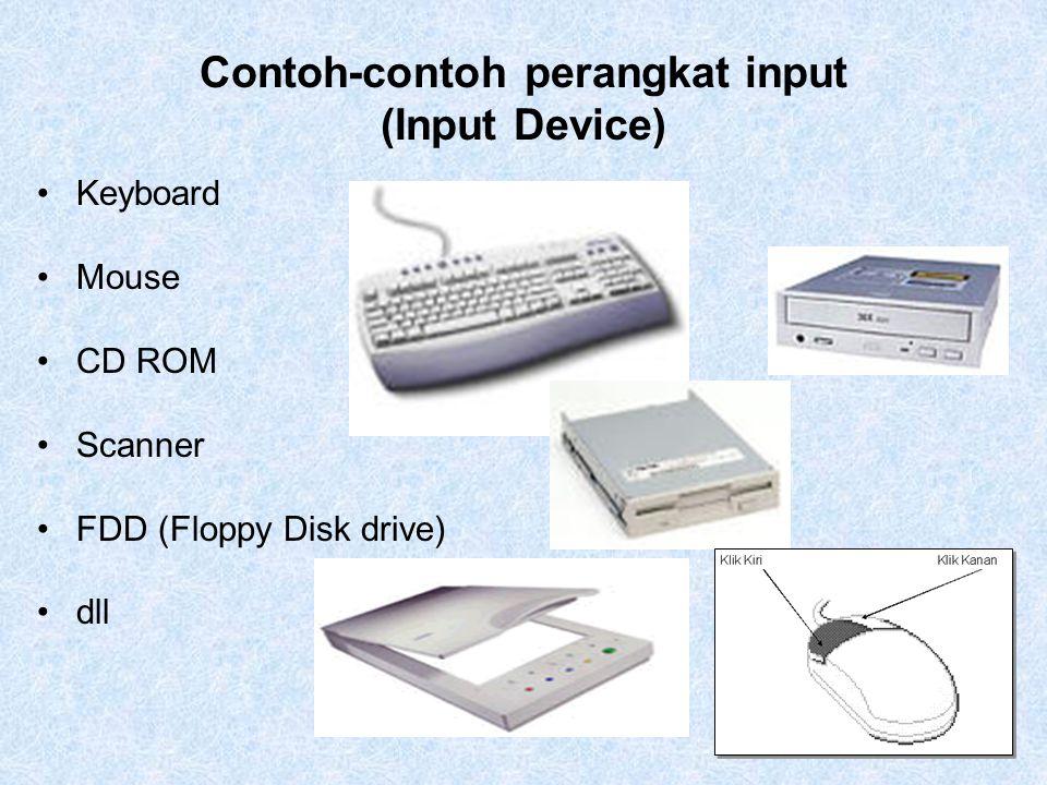 Contoh-contoh perangkat input (Input Device)