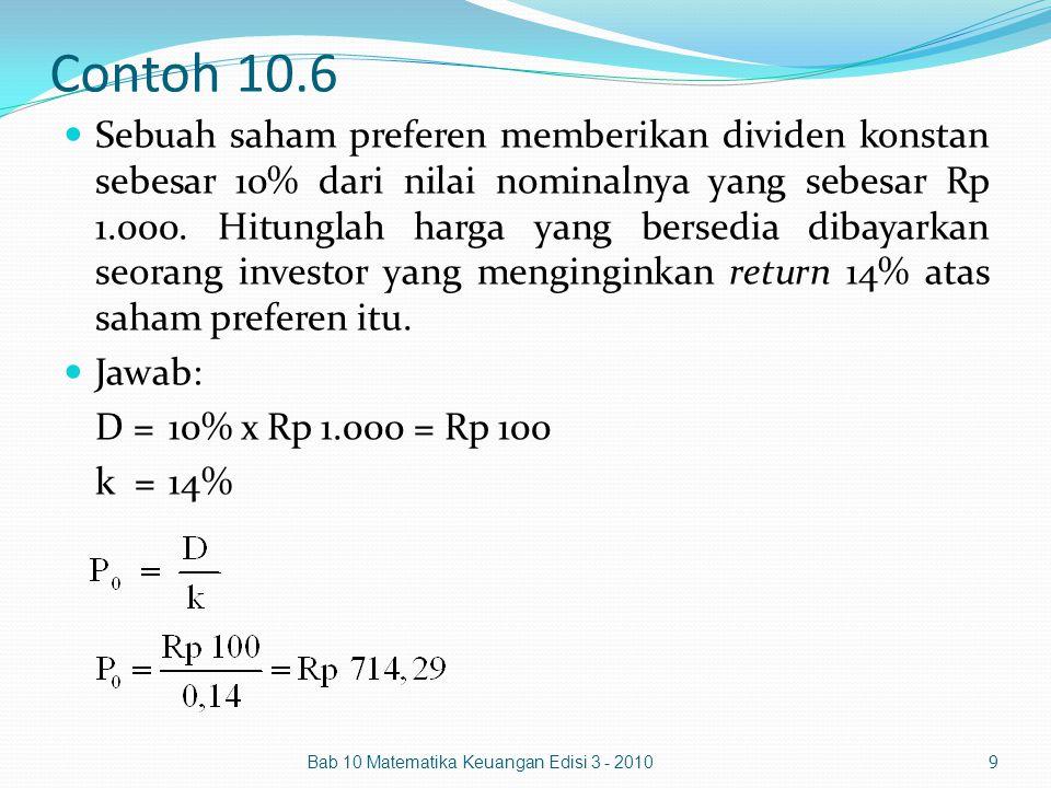 Contoh 10.6