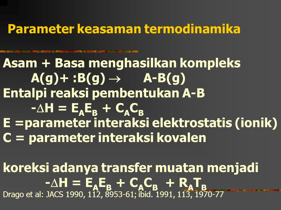 Parameter keasaman termodinamika