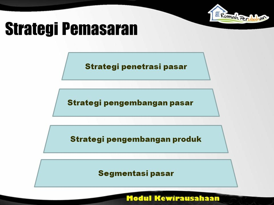 Strategi Pemasaran Strategi penetrasi pasar