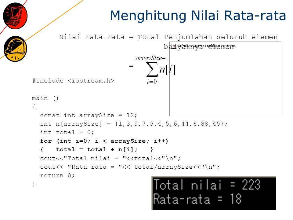 Menghitung Nilai Rata-rata