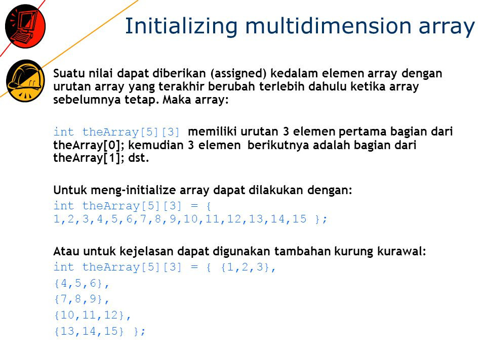 Initializing multidimension array