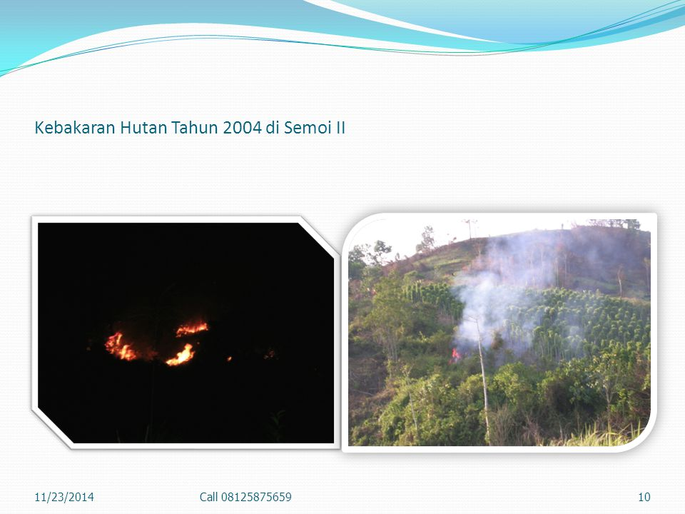 Kebakaran Hutan Tahun 2004 di Semoi II