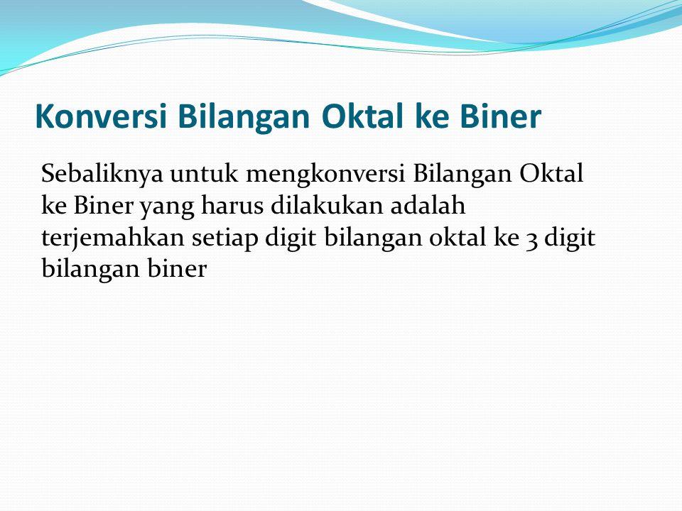 Konversi Bilangan Oktal ke Biner