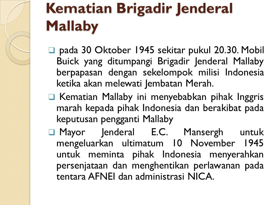 Kematian Brigadir Jenderal Mallaby