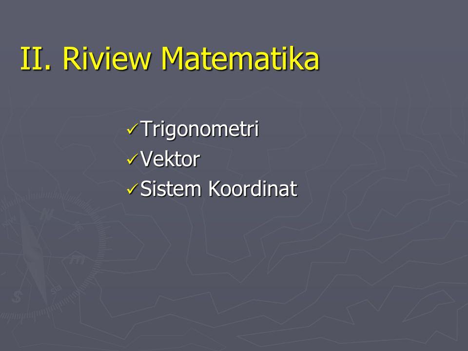 Trigonometri Vektor Sistem Koordinat