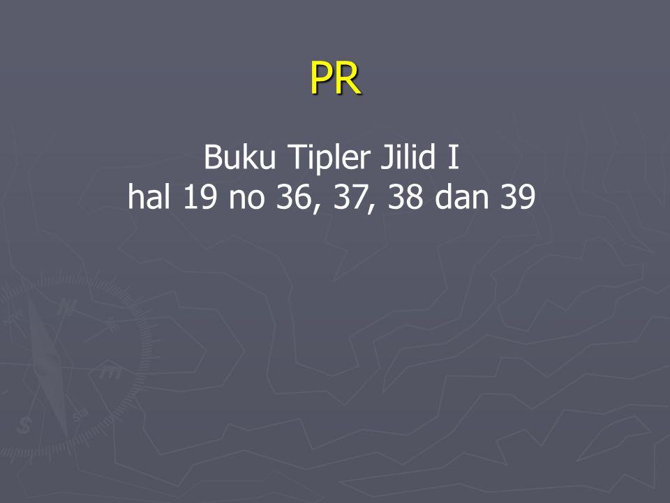 PR Buku Tipler Jilid I hal 19 no 36, 37, 38 dan 39