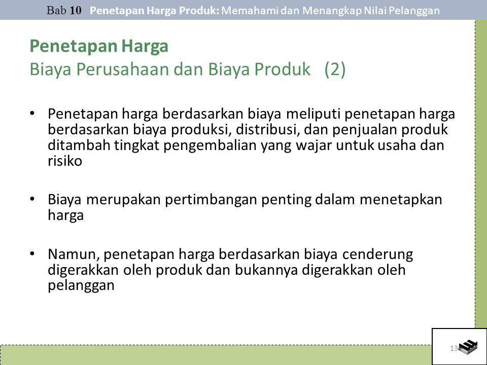 Penetapan Harga Biaya Perusahaan dan Biaya Produk (2)