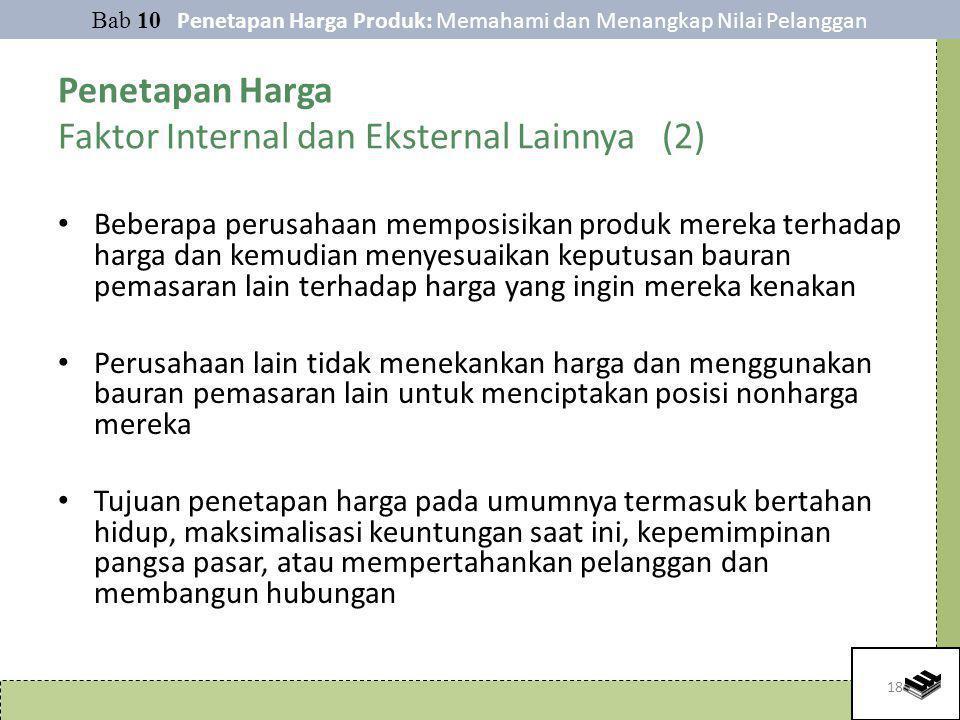Penetapan Harga Faktor Internal dan Eksternal Lainnya (2)