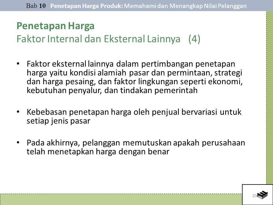 Penetapan Harga Faktor Internal dan Eksternal Lainnya (4)