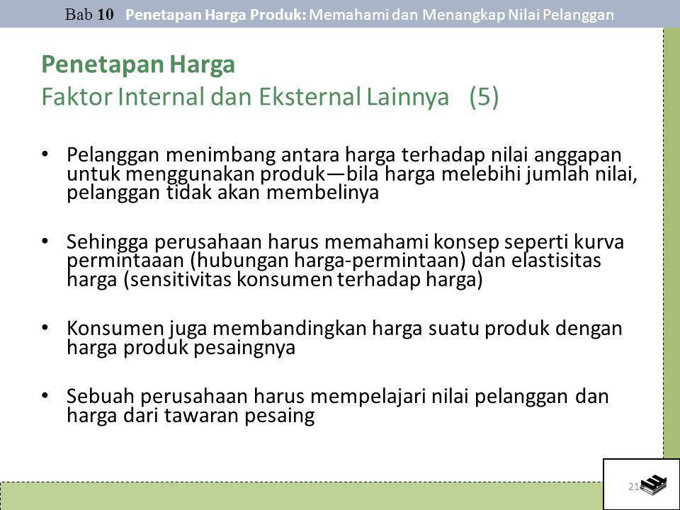 Penetapan Harga Faktor Internal dan Eksternal Lainnya (5)