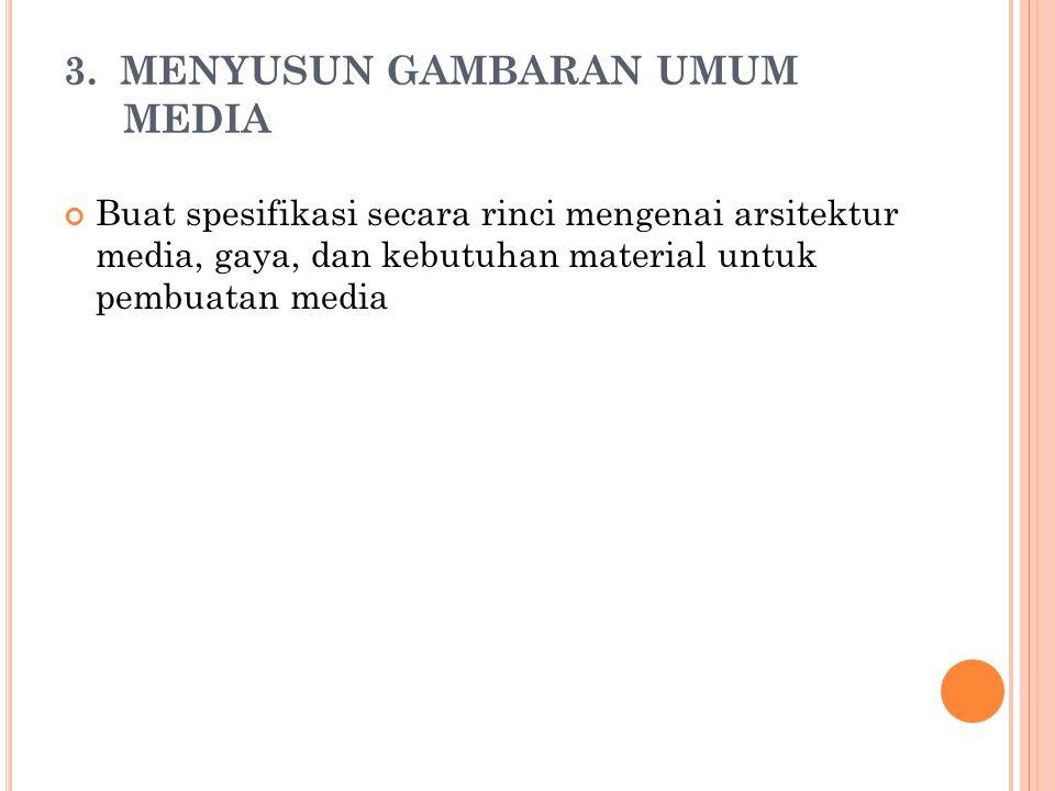 3. MENYUSUN GAMBARAN UMUM MEDIA