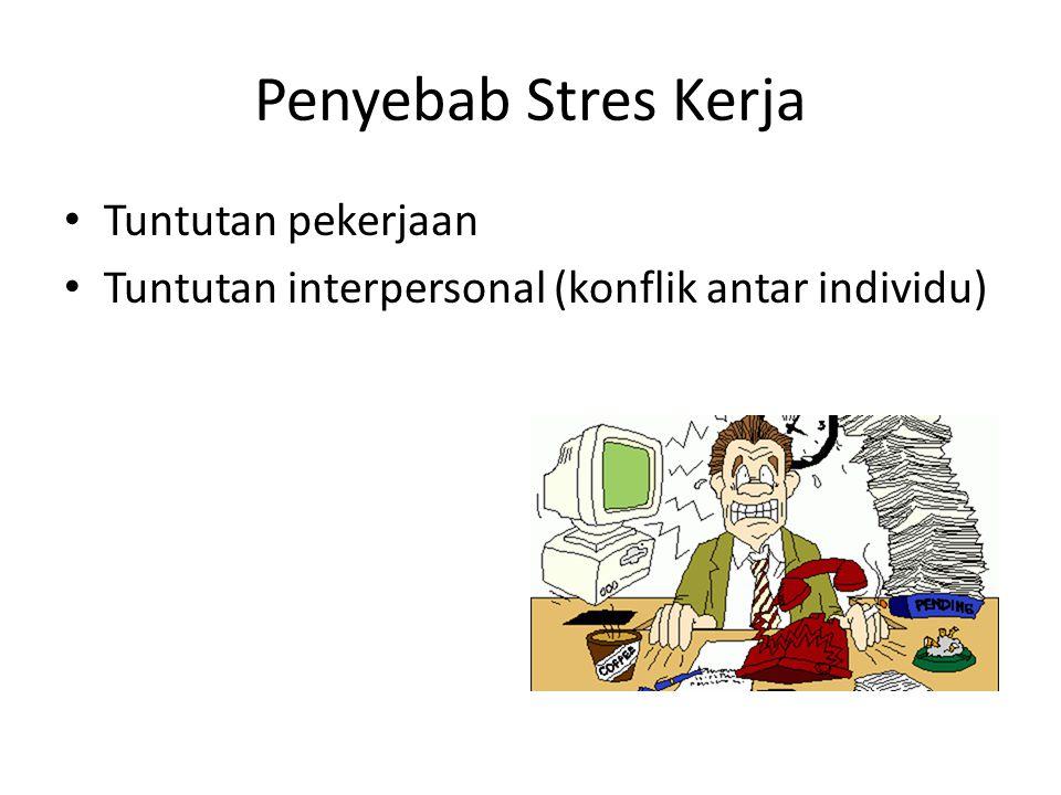 Penyebab Stres Kerja Tuntutan pekerjaan