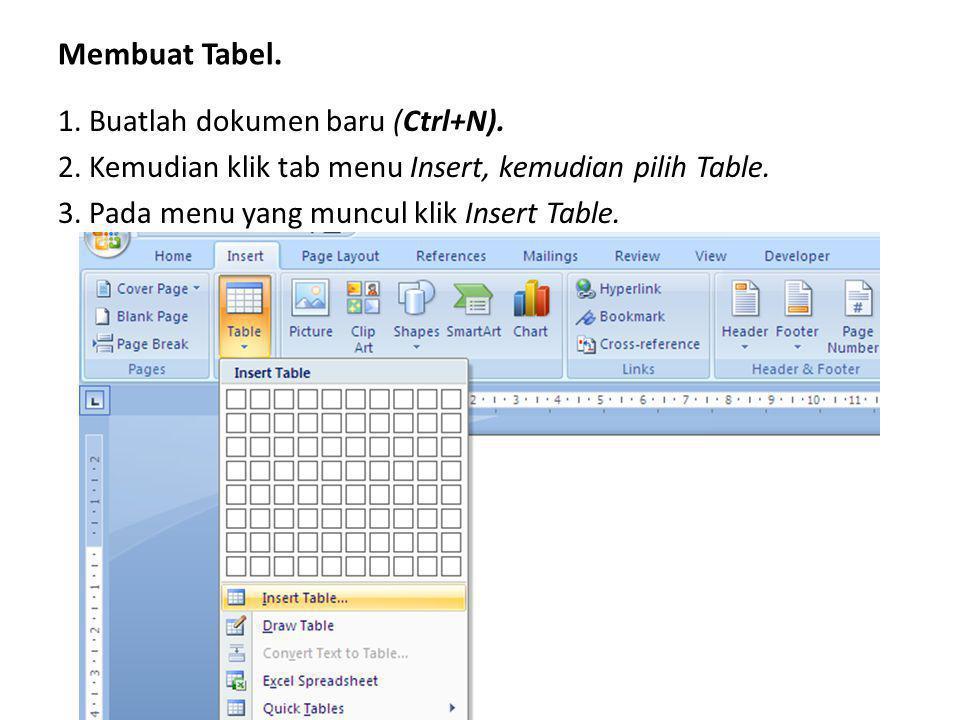 1. Buatlah dokumen baru (Ctrl+N).