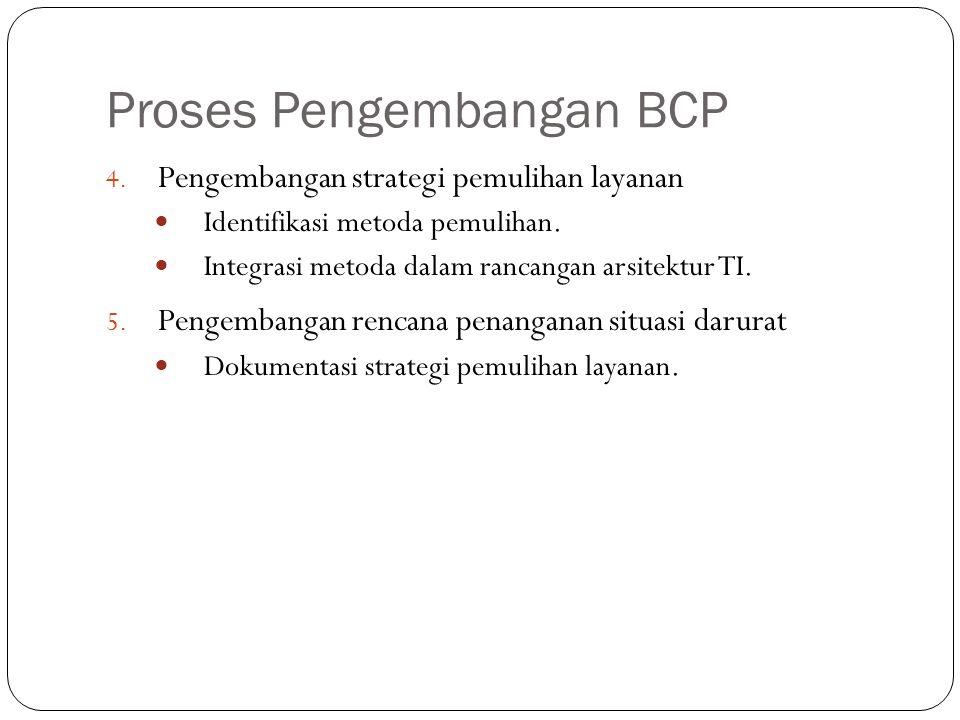 Proses Pengembangan BCP