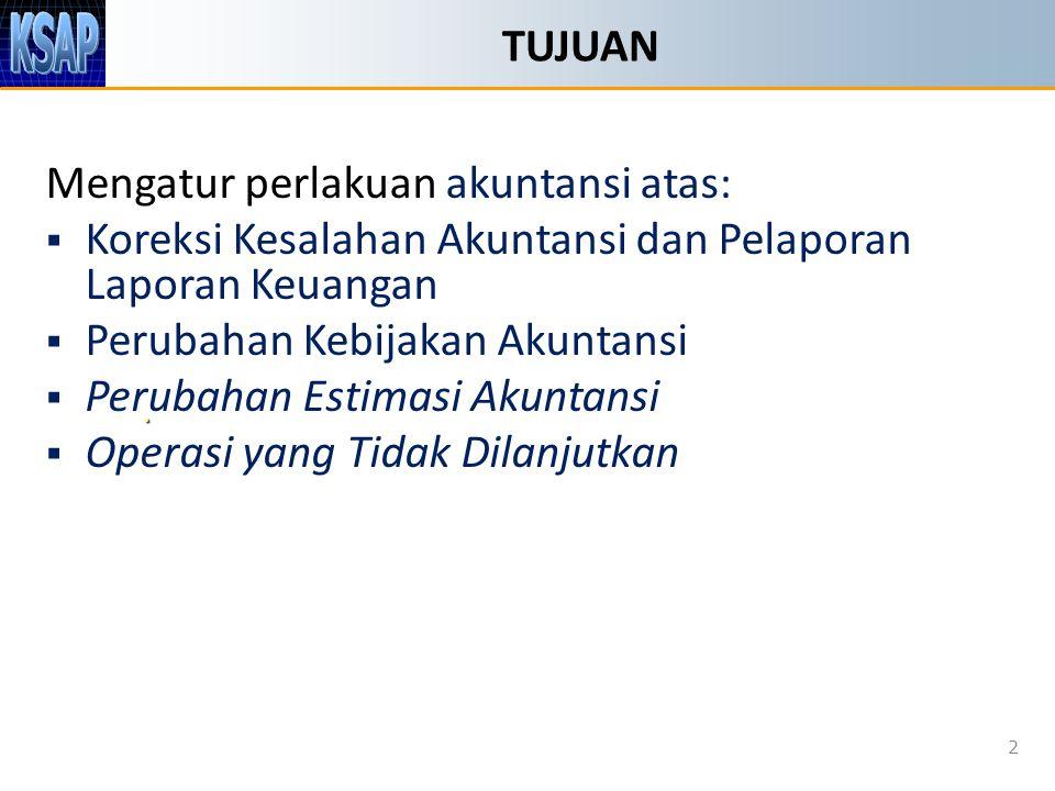 Mengatur perlakuan akuntansi atas: