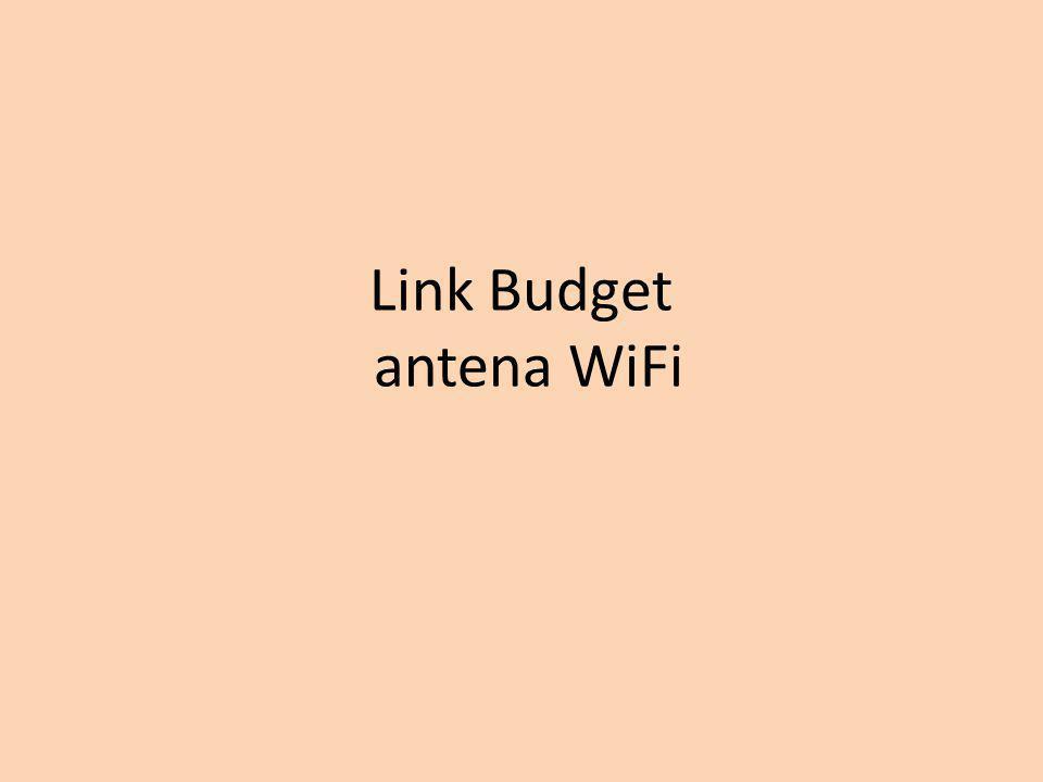 Link Budget antena WiFi