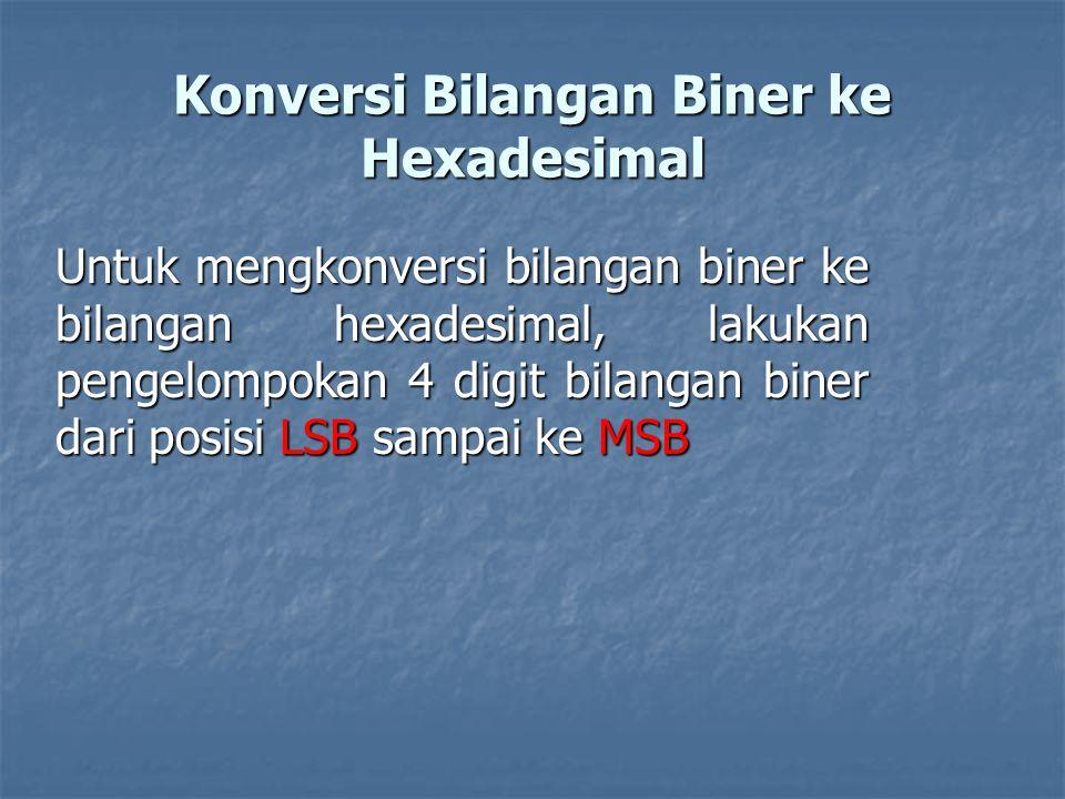Konversi Bilangan Biner ke Hexadesimal