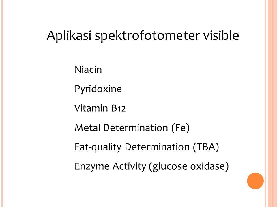 Aplikasi spektrofotometer visible