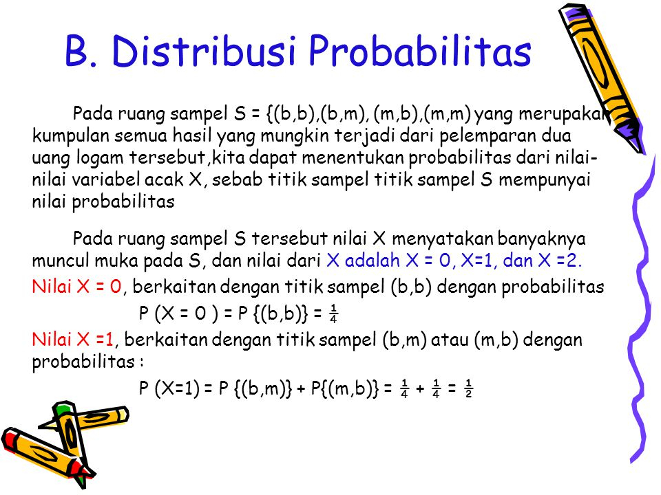 B. Distribusi Probabilitas