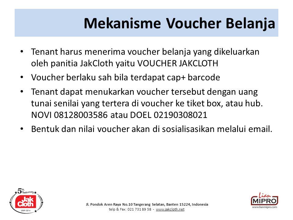 Mekanisme Voucher Belanja