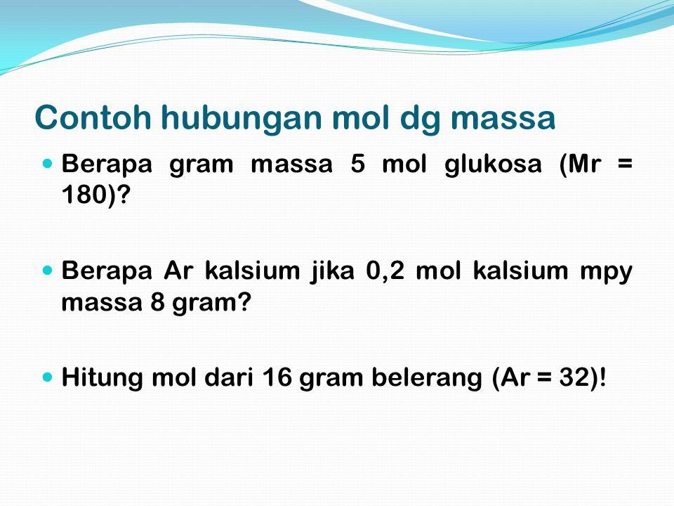 Contoh hubungan mol dg massa