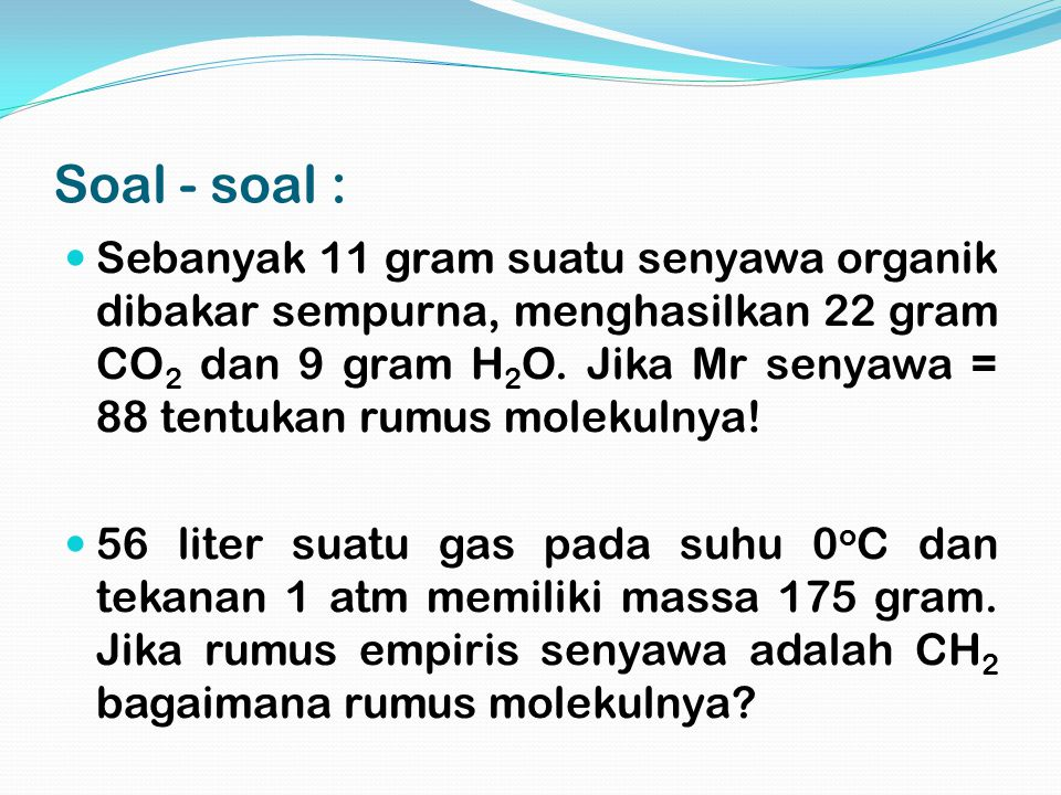 Soal - soal :