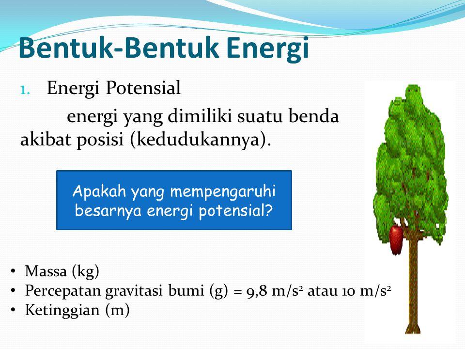 Apakah yang mempengaruhi besarnya energi potensial