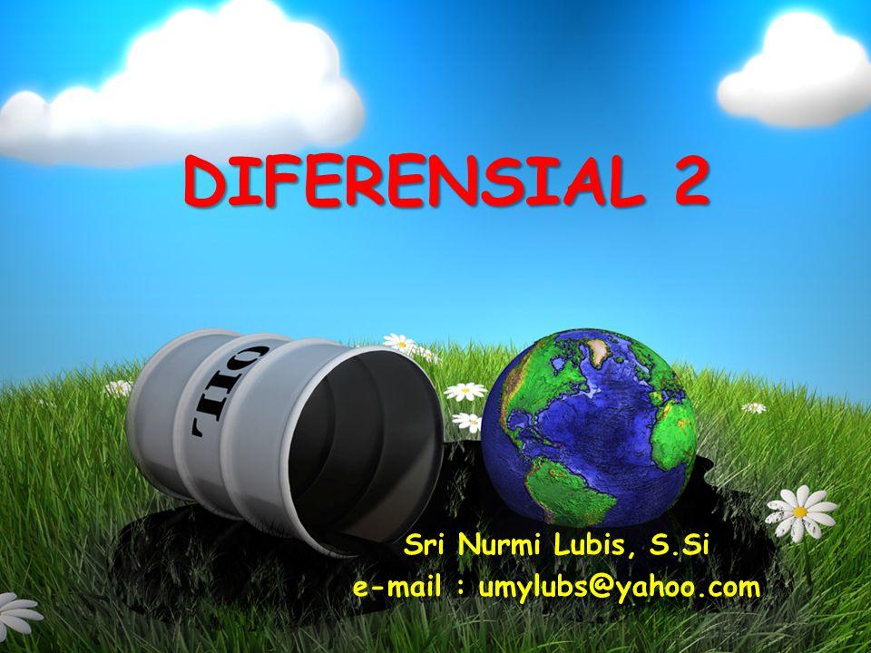 Sri Nurmi Lubis, S.Si e-mail : umylubs@yahoo.com